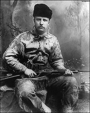 Theodore Roosevelt in 1885 with his highly-dec...